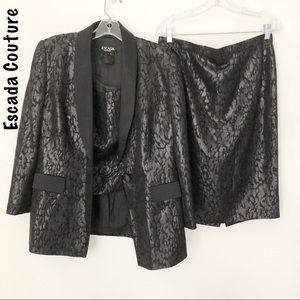 Fabulous Escada Couture Suit blazer skirt tank 12